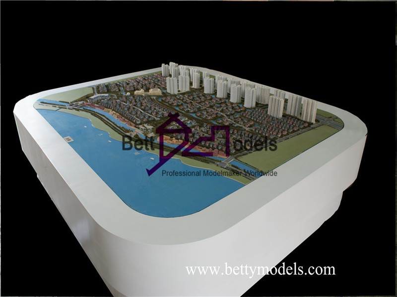 lake side architectural exhibition models