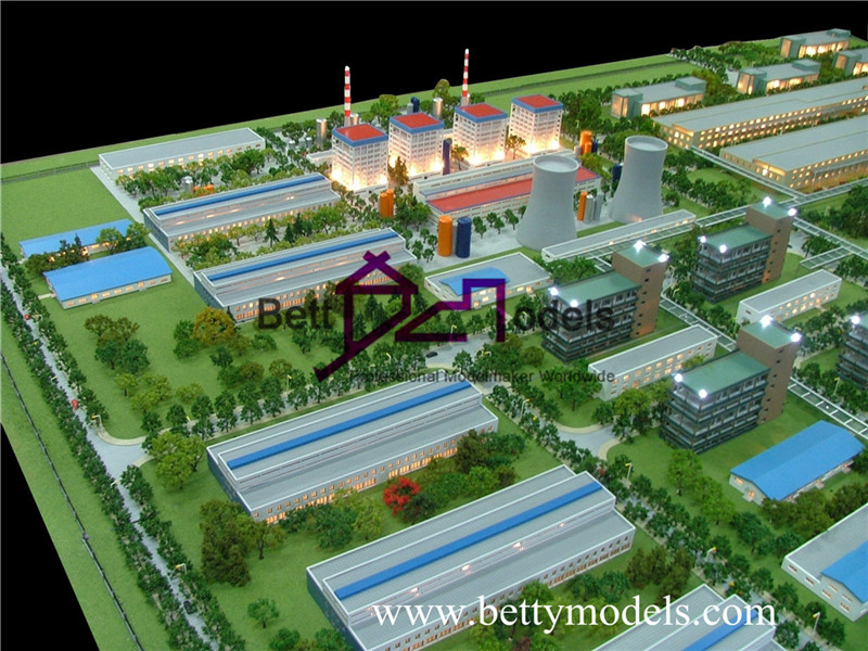 architectural electric power factory models