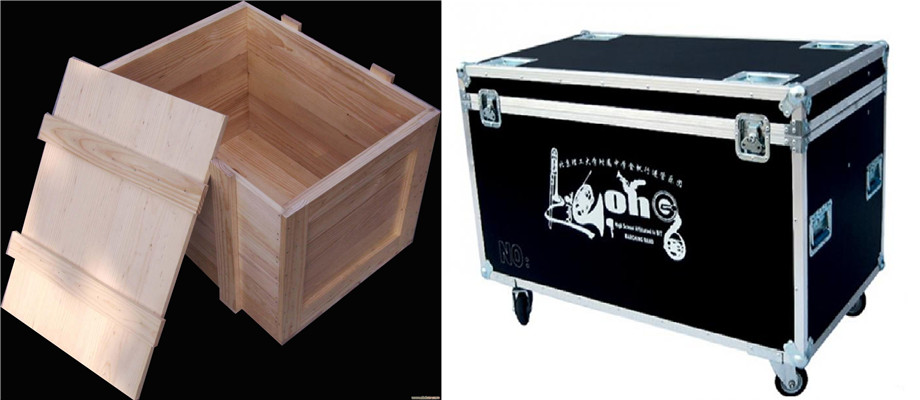 wooden packing box and flight case for architectural models