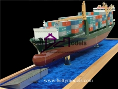 3D container ship models